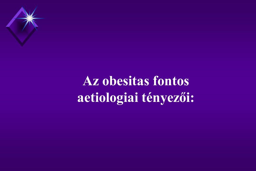 Az obesitas fontos aetiologiai tényezői: