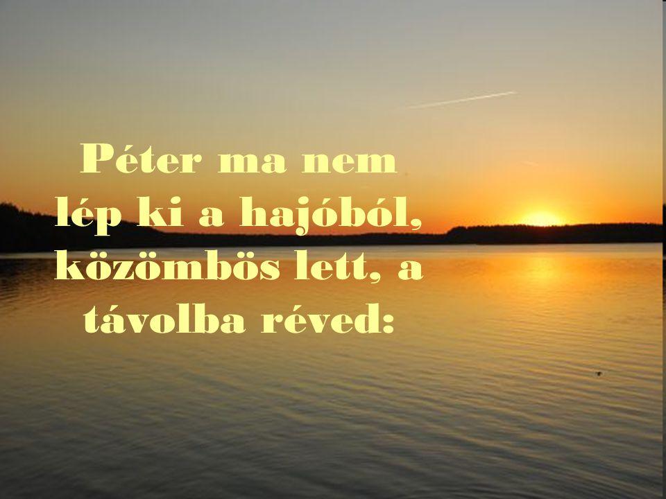 Péter ma nem lép ki a hajóból, közömbös lett, a távolba réved: