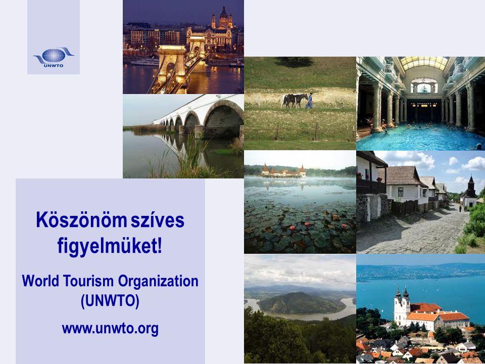Köszönöm szíves figyelmüket! World Tourism Organization (UNWTO) www.unwto.org