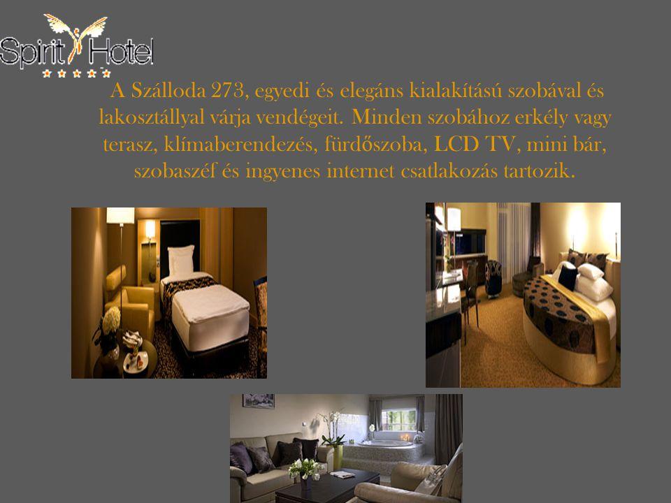 A Szálloda 273, egyedi és elegáns kialakítású szobával és lakosztállyal várja vendégeit.