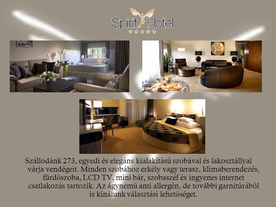 Szállodánk 273, egyedi és elegáns kialakítású szobával és lakosztállyal várja vendégeit. Minden szobához erkély vagy terasz, klímaberendezés, fürd ő s