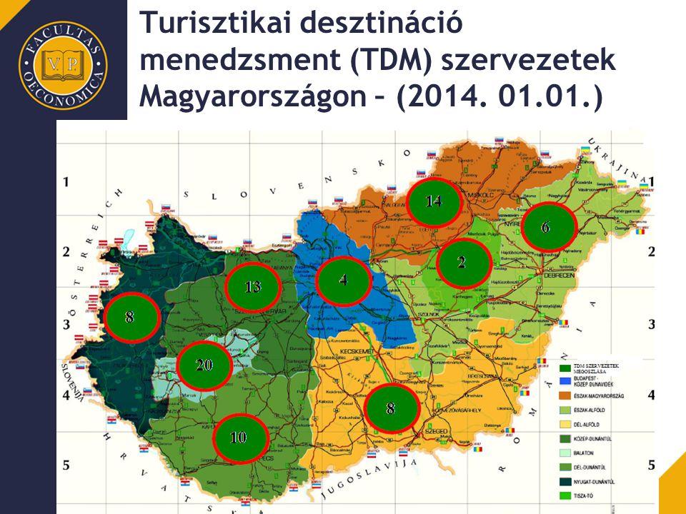 Turisztikai desztináció menedzsment (TDM) szervezetek Magyarországon – (2014. 01.01.)