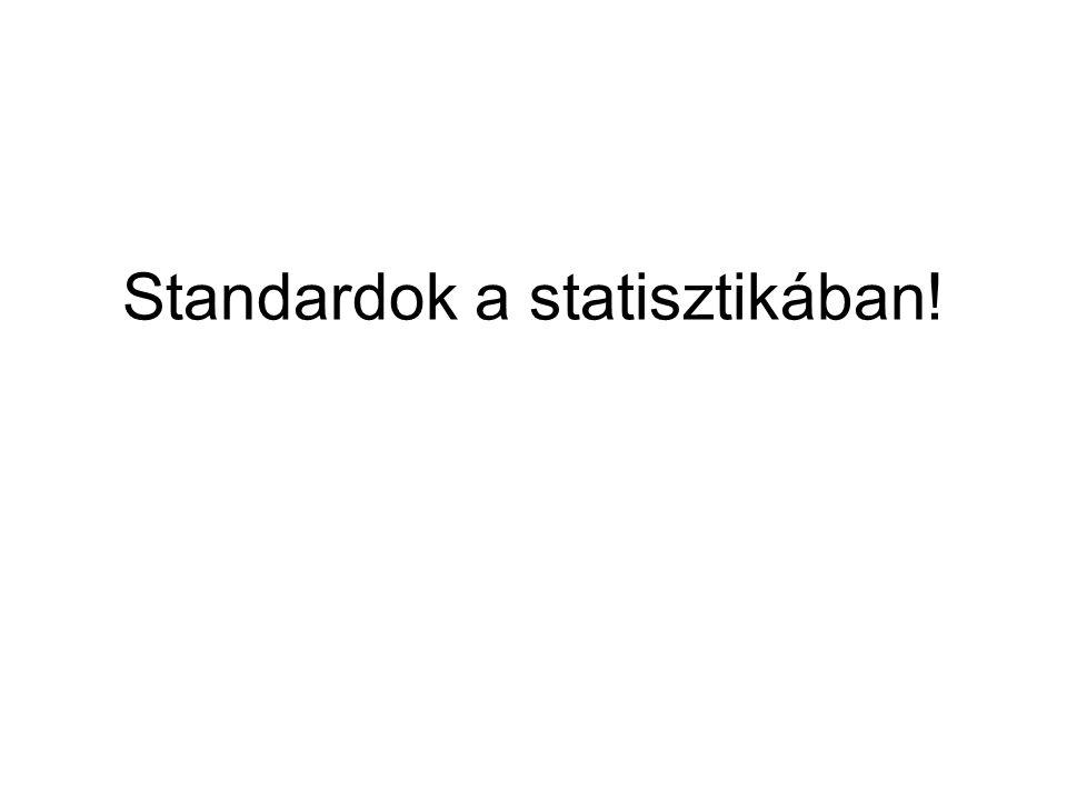 Standardok a statisztikában!
