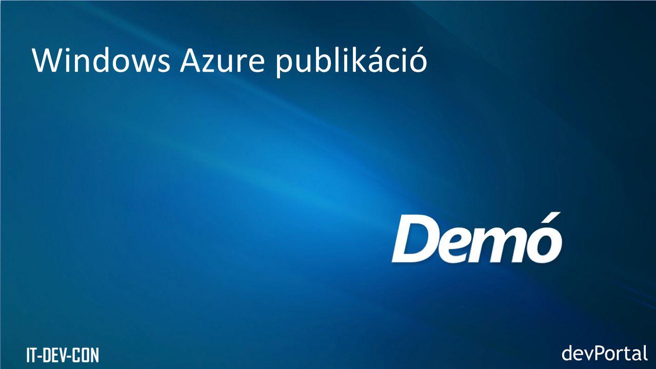 IT-DEV-CON Windows Azure publikáció