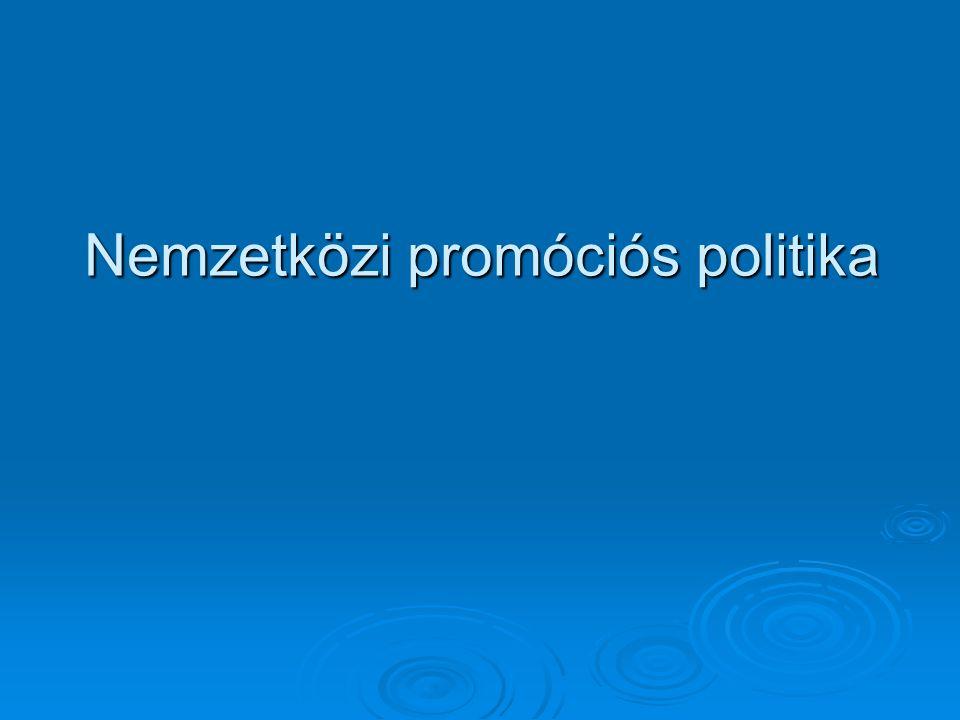 Nemzetközi promóciós politika