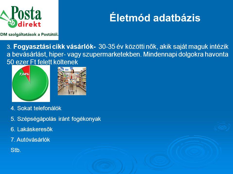 Életmód adatbázis 3.