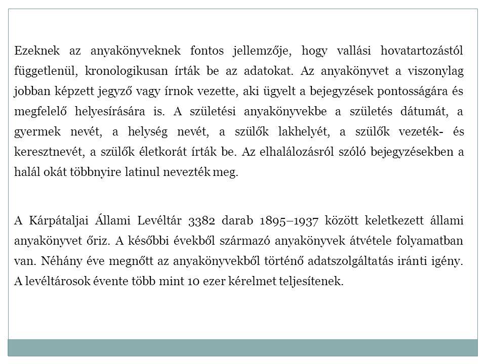 Sor- szám Járások, városok Egyházi 1712 – 1952 Állami 1895 – 1937 Össz.