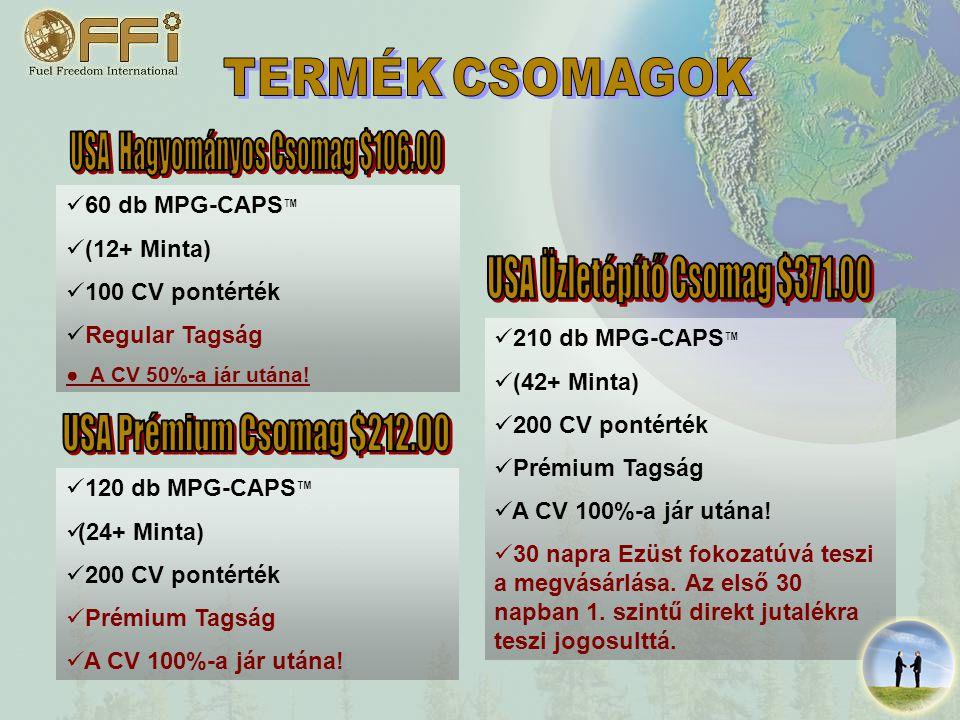 120 db MPG-CAPS ™ (24+ Minta) 200 CV pontérték Prémium Tagság A CV 100%-a jár utána.