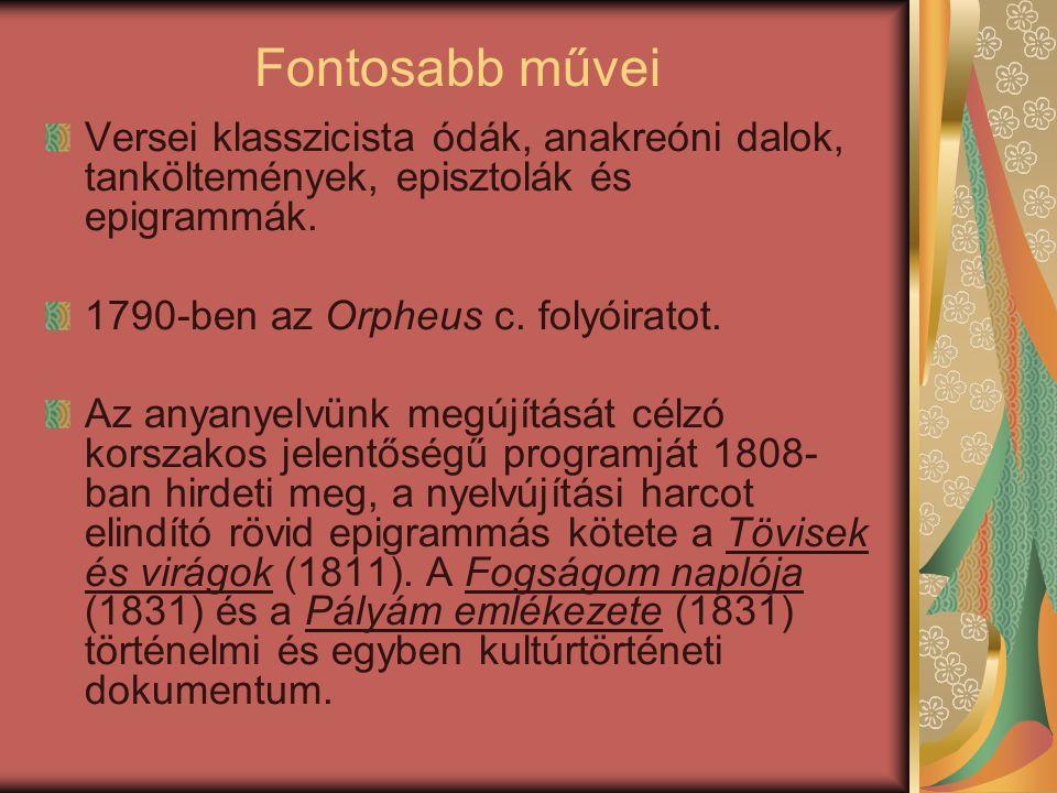A nyelvújítás korszaka, Kazinczy törekvései A nyelvújítás vezető alakja Kazinczy Ferenc volt.