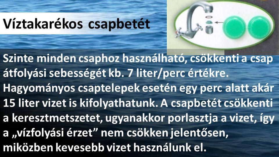 Víztakarékos csapbetét Szinte minden csaphoz használható, csökkenti a csap átfolyási sebességét kb.