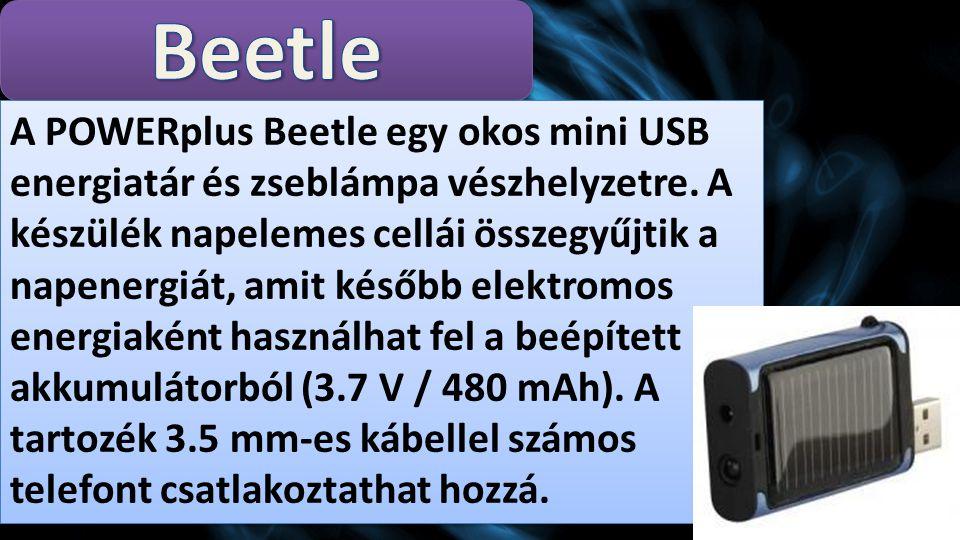 A POWERplus Beetle egy okos mini USB energiatár és zseblámpa vészhelyzetre.