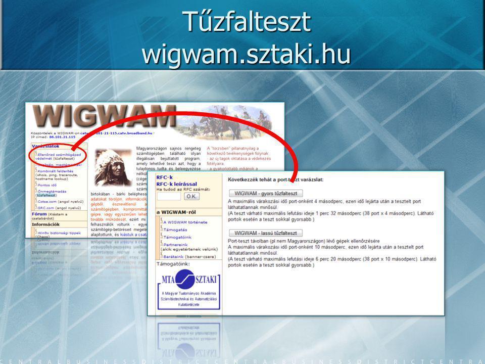 Tűzfalteszt wigwam.sztaki.hu