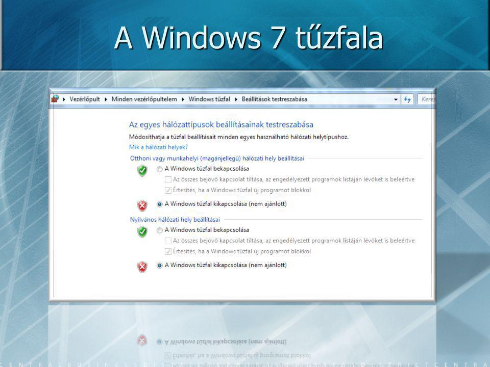 A Windows 7 tűzfala