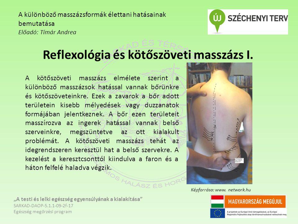 """Reflexológia és kötőszöveti masszázs I. """"A testi és lelki egészség egyensúlyának a kialakítása"""" SARKAD-DAOP-5.1.1-09-2f-17 Egészség megőrzési program"""