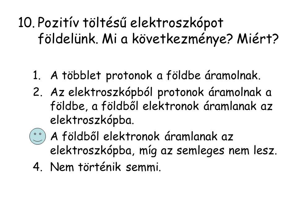 11.Mit jellemzünk az elektromos töltéssel.