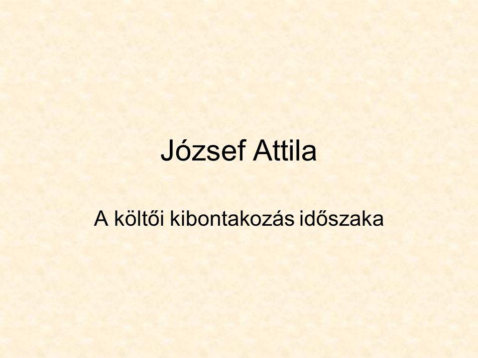 József Attila A költői kibontakozás időszaka
