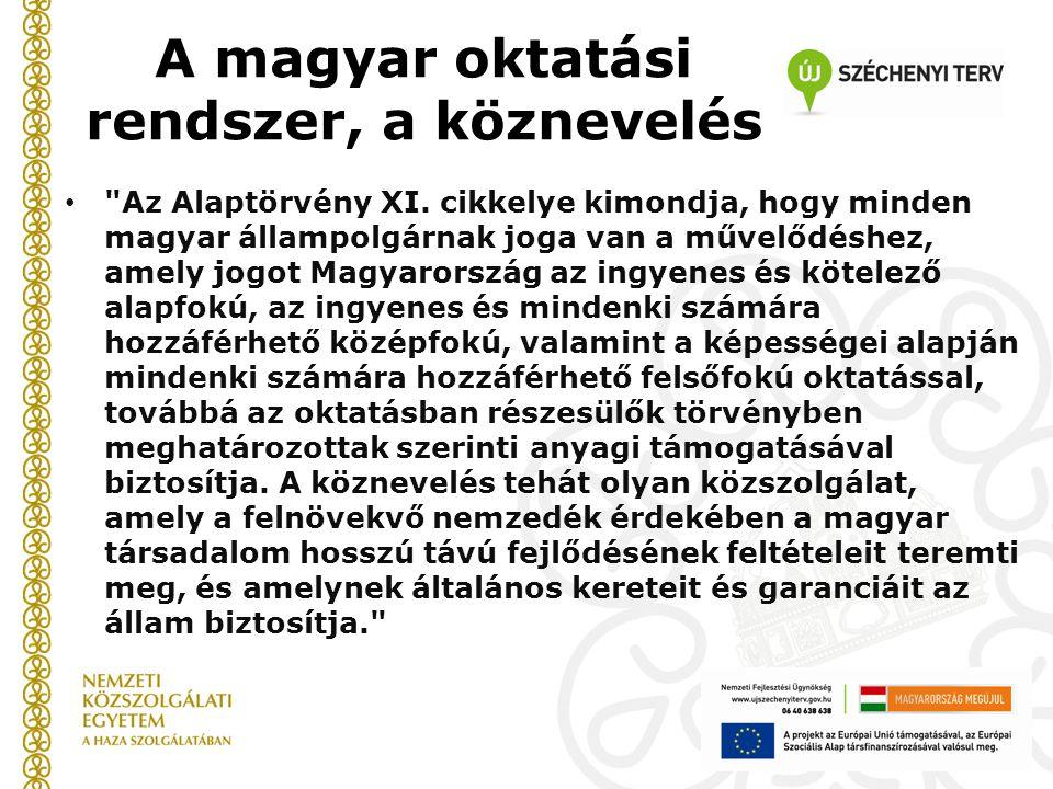 A magyar oktatási rendszer, a köznevelés