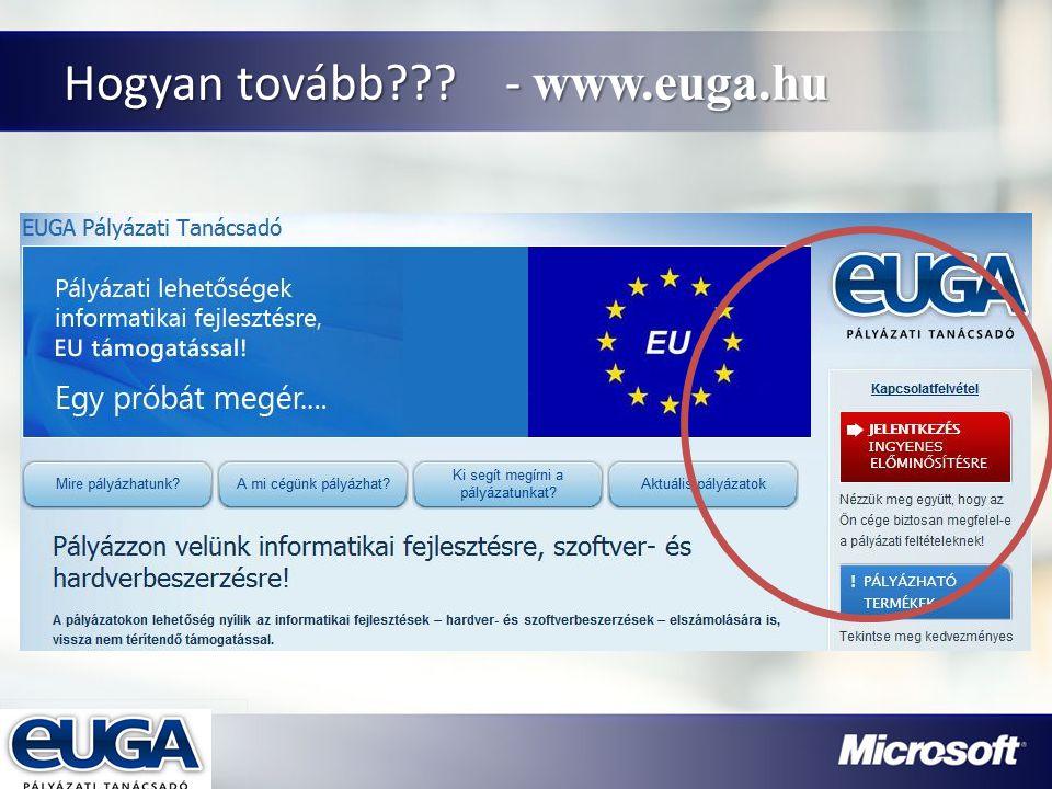 Partner Logójának helye Hogyan tovább??? - www.euga.hu