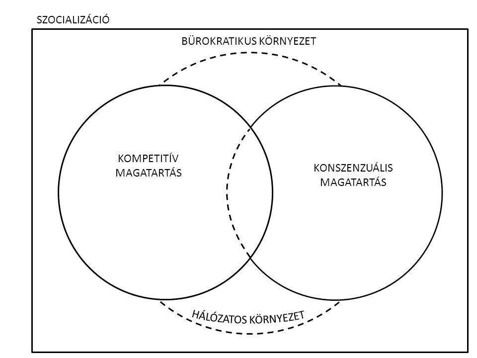 SZOCIALIZÁCIÓ BÜROKRATIKUS KÖRNYEZET KOMPETITÍV MAGATARTÁS KONSZENZUÁLIS MAGATARTÁS