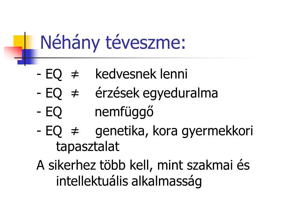 Önértékelési deficit Neurotikus célok (Vera F.