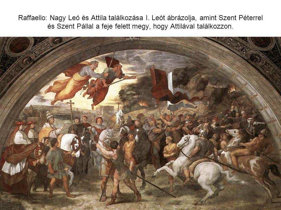 Raffaello: Nagy Leó és Attila találkozása I.