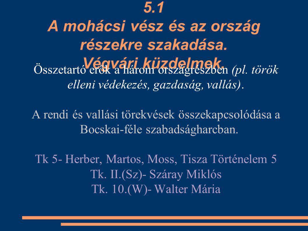 A végvári vonal összeomlása és a mohácsi csata Nemzetközi helyzet és Magyarország helyzete a XVI.