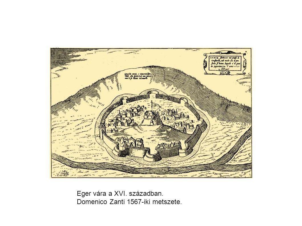 Eger vára a XVI. században. Domenico Zanti 1567-iki metszete.