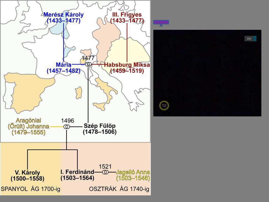 Habsburg európai túlhatalom V.Károly II.