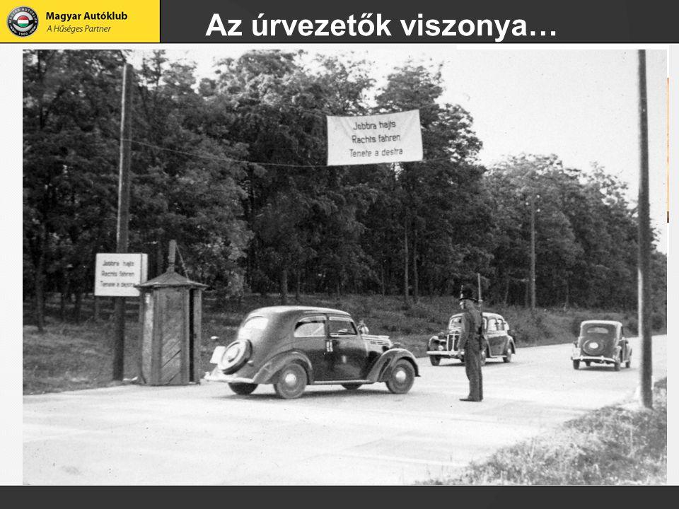 Anno…. 1901 június 14  első gépjárművezetői vizsga a Városligetben A motorizáció terjed! 1910-ben: 937 db szgk, 110 db tgk, 45 db mkp 1964: már évi 1