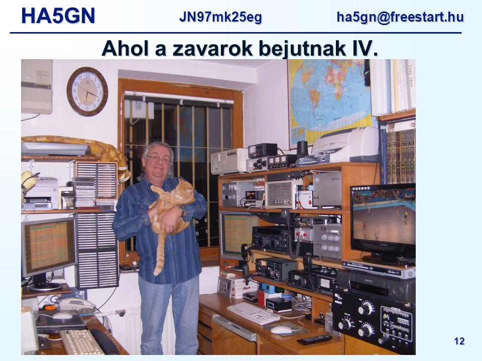 HA5GNJN97mk25eg ha5gn@freestart.hu Amatőr rádióállomások helyi zavarmentesítése - MRC Műszaki Nap 2010 12 Ahol a zavarok bejutnak IV.