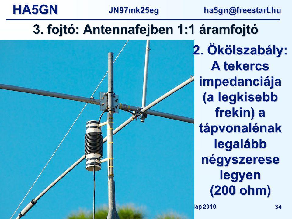 HA5GNJN97mk25eg ha5gn@freestart.hu Amatőr rádióállomások helyi zavarmentesítése - MRC Műszaki Nap 2010 34 3.
