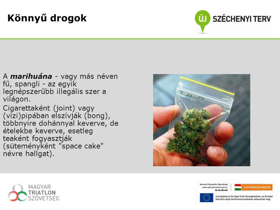A marihuána - vagy más néven fű, spangli - az egyik legnépszerűbb illegális szer a világon. Cigarettaként (joint) vagy (vízi)pipában elszívják (bong),