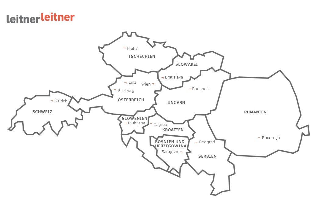 Wien ┌ Linz Salzburg TSCHECHIEN Praha SLOWAKEI Bratislava UNGARN Budapest RUMÄNIEN Bucureşti SERBIEN Beograd BOSNIEN UND HERZEGOWINA Sarajevo ┌ KROATI