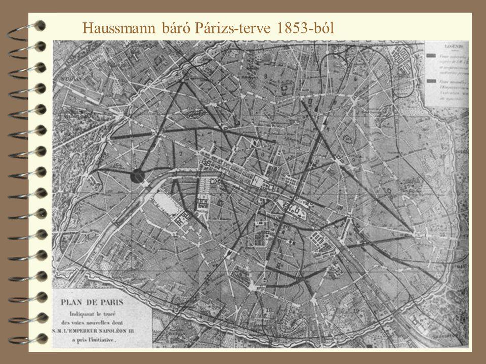 25 Haussmann báró Párizs-terve 1853-ból