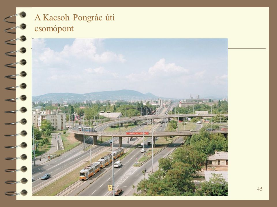 45 A Kacsoh Pongrác úti csomópont