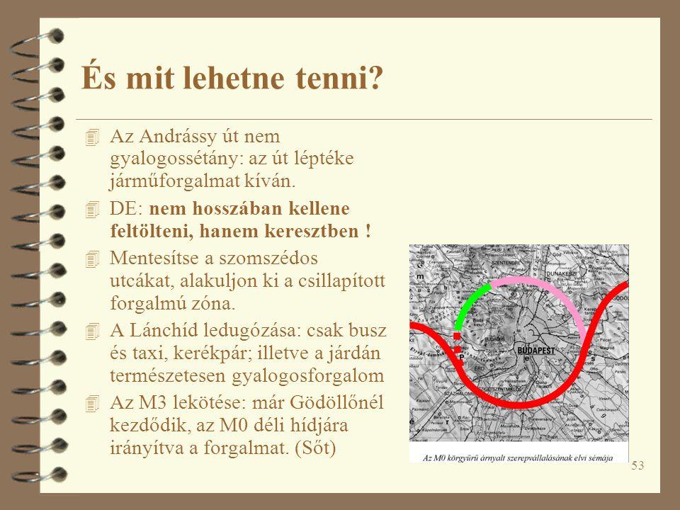 53 És mit lehetne tenni.4 Az Andrássy út nem gyalogossétány: az út léptéke járműforgalmat kíván.