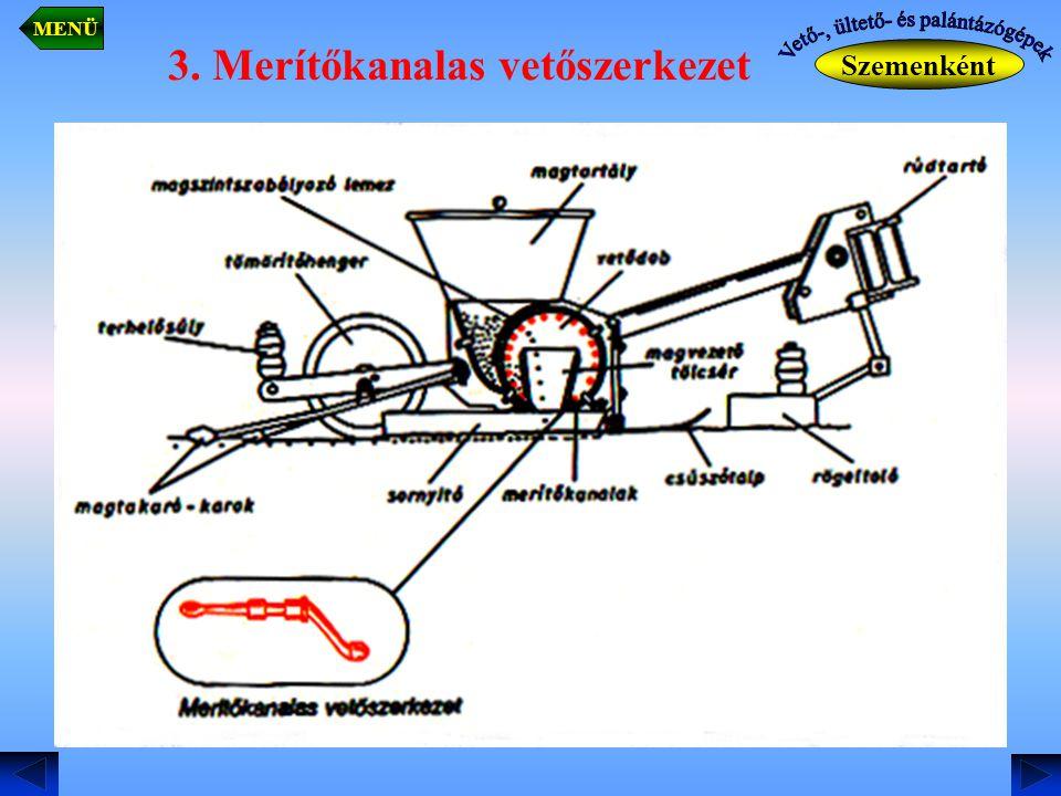 3. Merítőkanalas vetőszerkezet Szemenként MENÜ