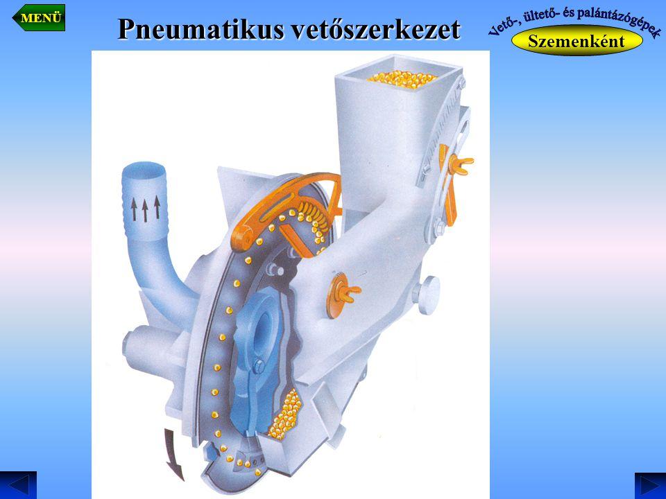 Pneumatikus vetőszerkezet Szemenként MENÜ