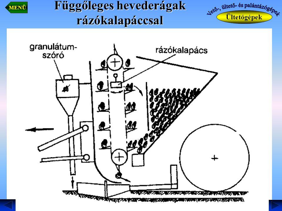 Függőleges hevederágak rázókalapáccsal Ültetőgépek MENÜ