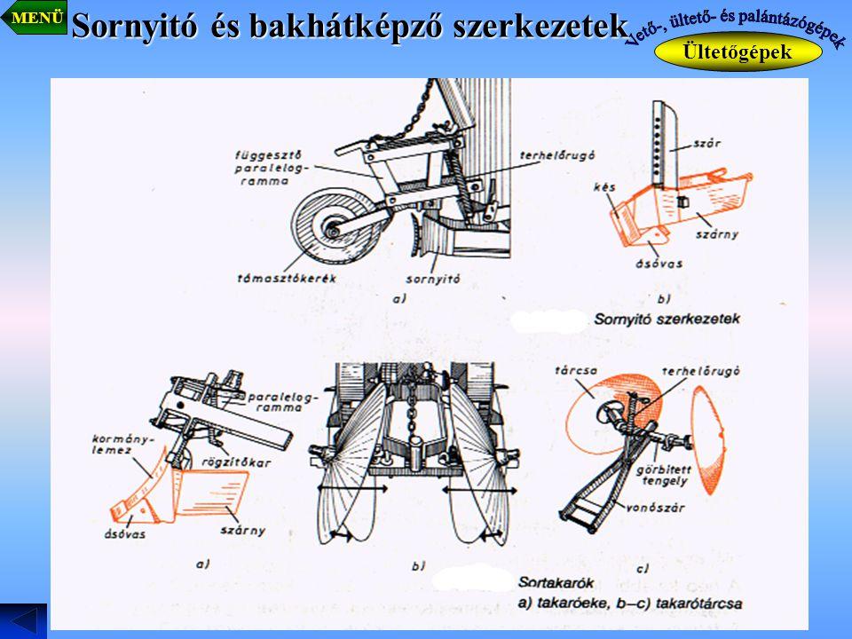 Sornyitó és bakhátképző szerkezetek Ültetőgépek MENÜ