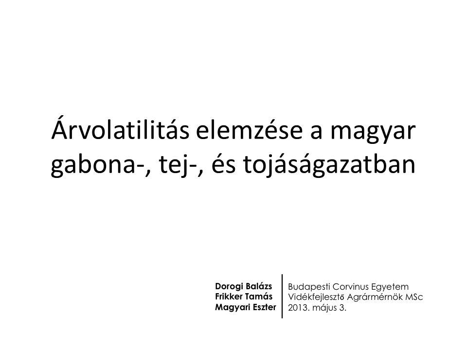 Árvolatilitás elemzése a magyar gabona-, tej-, és tojáságazatban
