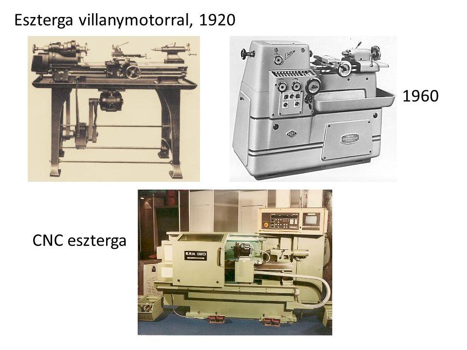 Eszterga villanymotorral, 1920 CNC eszterga 1960