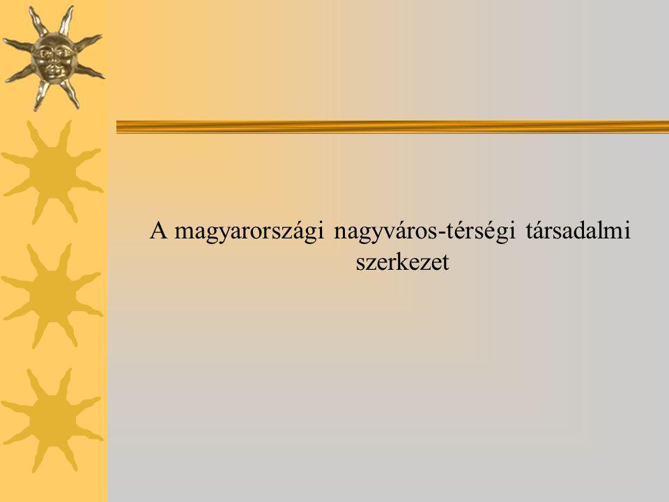 A magyarországi nagyváros-térségi társadalmi szerkezet