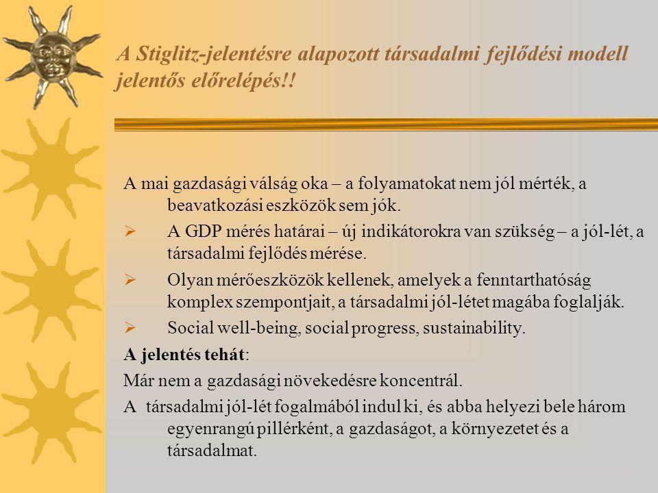 A Stiglitz-jelentésre alapozott társadalmi fejlődési modell jelentős előrelépés!.