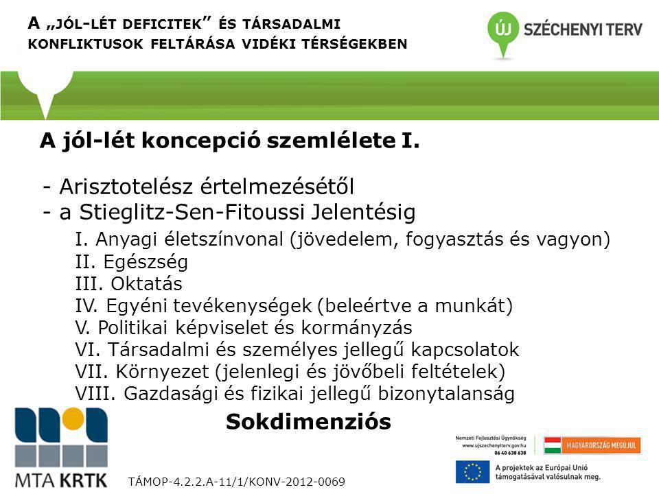 TÁMOP-4.2.2.A-11/1/KONV-2012-0069 - Arisztotelész értelmezésétől - a Stieglitz-Sen-Fitoussi Jelentésig I. Anyagi életszínvonal (jövedelem, fogyasztás