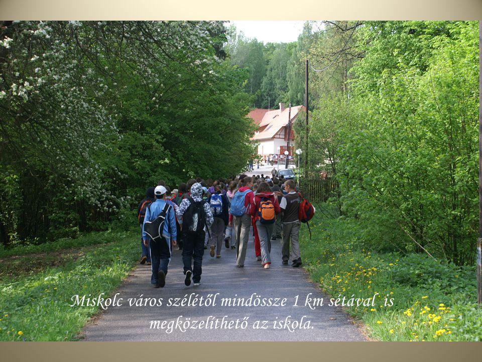 Miskolc város szélétől mindössze 1 km sétával is megközelíthető az iskola.