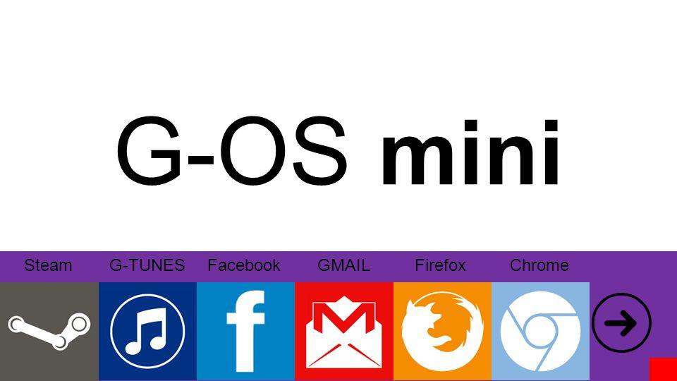G-OS mini TwitterHotmailWikipédiaYouTube