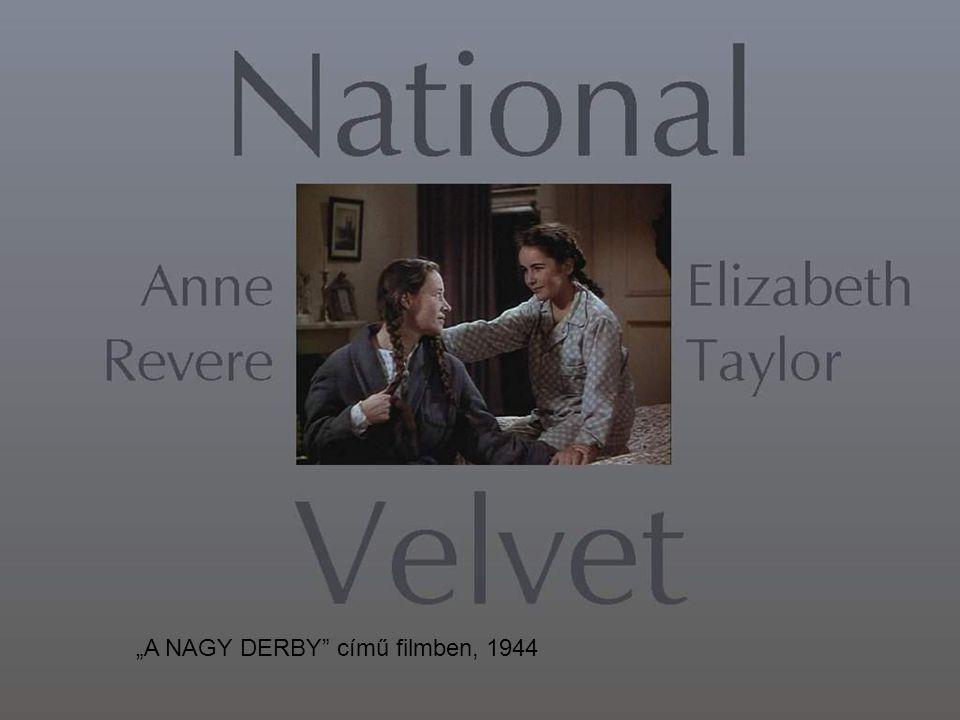 """"""" A NAGY DERBY című filmben-1944"""