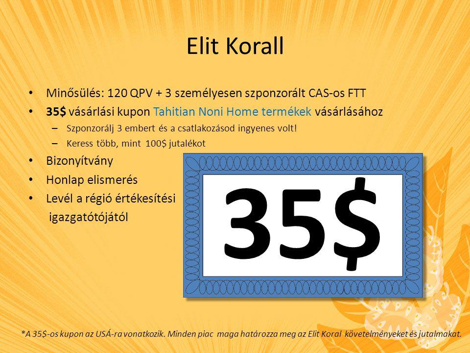 Hogyan fizet az Elit Koral.1. regisztráció = 24$ to the personal sponsor 2.