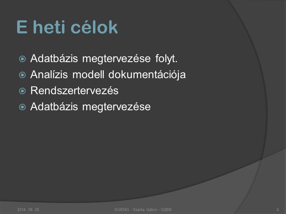 Adatbázis megtervezése Legyen minden klienseknek és a szervernek külön adatbázisa.